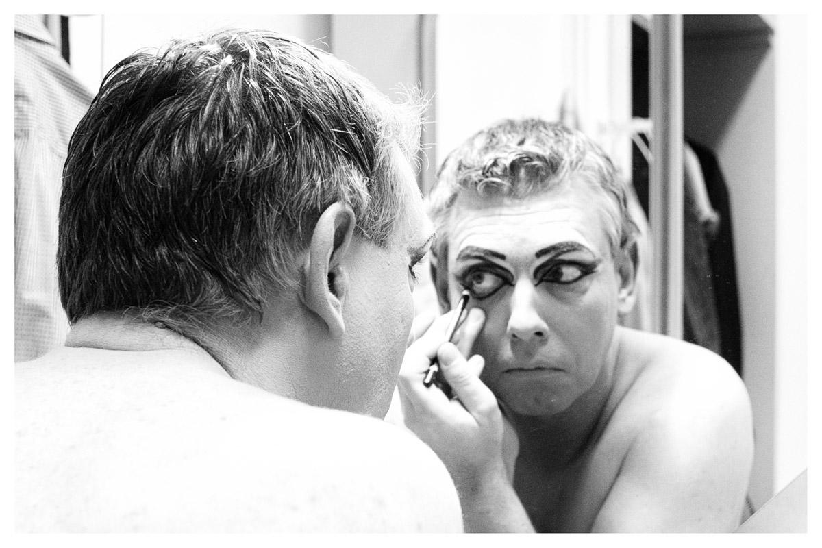 Travestie Revue Fotograf Viktor Viktoria Backstage Theater Alte Werkstatt Frankenthal