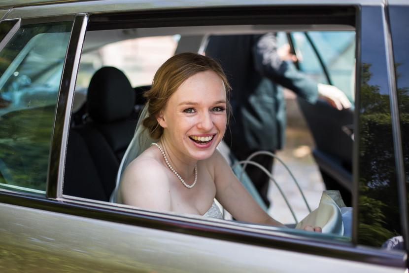 Ankunft des Brautpaars - Hochzeit Hotel Burg Abenberg