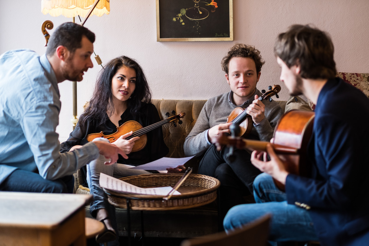 Abstimmen Feuerbach Quartett Café Katz Nürnberg Fotograf Jürgen Klieber