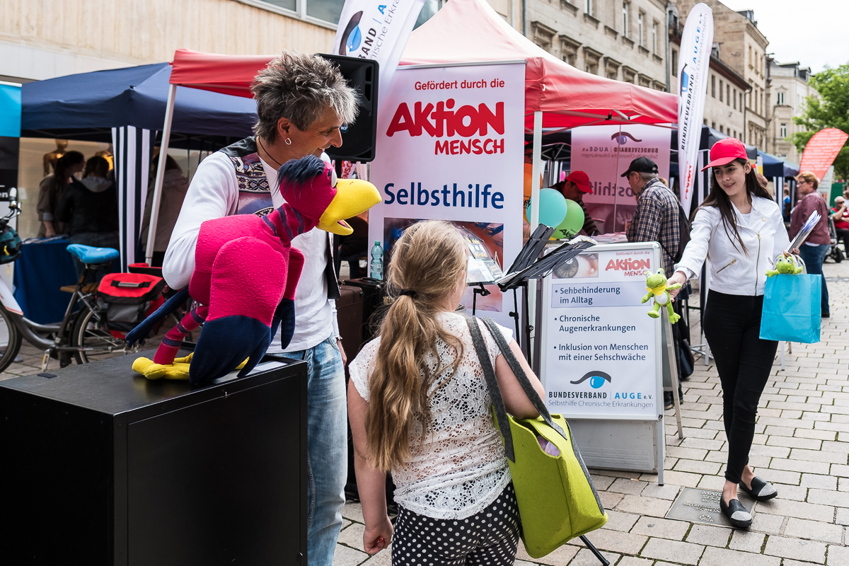 Gesundheitsmarkt Nürnberg Fürth 2017 Fotograf Informationsstand Bundesverband Auge e.V.