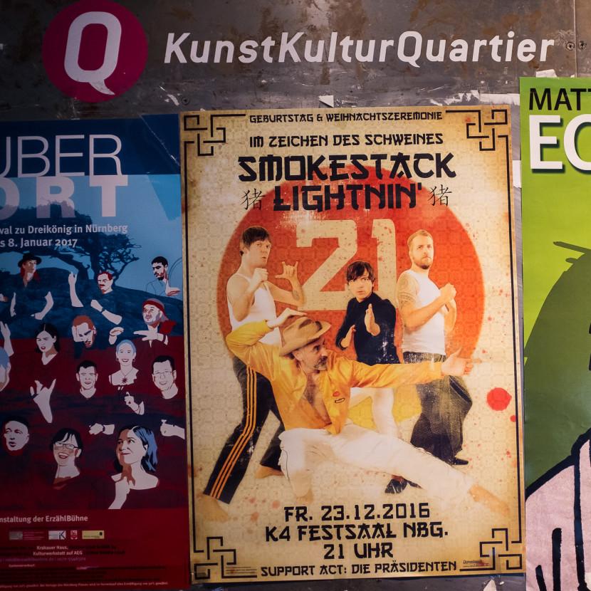Konzertplakat Smokestack Lightnin K4 Festsaal Nürnberg Fotograf Jürgen Klieber