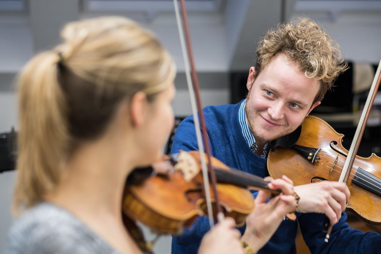 Bandprobe Feuerbach Quartett Musikschule Fürth Fotograf Jürgen Klieber